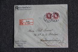 Timbre Sur Lettre Recommandée Publicitaire Du DANEMARK Vers Le LUXEMBOURG. - 1913-47 (Christian X)