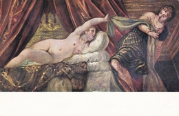 Tintoretto Joseph And Putiphars Wife Postcard Unused Good Condition - Paintings