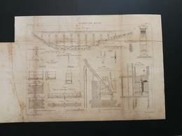 ANNALES DES PONTS Et CHAUSSEES (Dep 22) -Plan Du Viaduc De Dinan Graveur Macquet 1888 (CLA87) - Travaux Publics