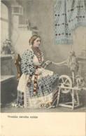 CROATIE , HRVATSKA NARODNA NOŠNJA ( Fileuse ) , * 396 27 - Croatie