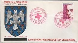 FDC 410 - FRANCE N° 1785 Francis Poulinc Sur FDC Croix-Rouge 1974 - 1970-1979