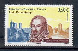 ANDORRA FRANCESE 2012 -  ENRICO IV DI NAVARRA  - MNH ** - Andorra Francese