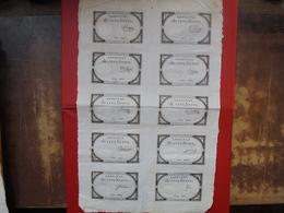 FRANCE PLANCHE N°16657-10 ASSIGNATS De 5 LIVRES-10 SIGNATURES DIFFERENTES - Assignats & Mandats Territoriaux