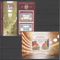 I756 2010,2013 ROMANIA ARCHITECTURE BANK RUSSIA RELATIONS 2BL MNH - Architecture