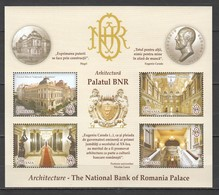 I764 2013 ROMANIA ARCHITECTURE THE NATIONAL BANK OF ROMANIAN PALACE 1KB MNH - Architecture