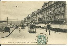 76 - ROUEN / LE QUAI DE PARIS ET LE PONT TRANSBORDEUR - Rouen