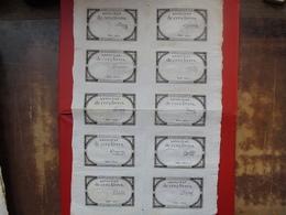 FRANCE PLANCHE N°16612-10 ASSIGNATS De 5 LIVRES-10 SIGNATURES DIFFERENTES - Assignats & Mandats Territoriaux