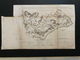 ANNALES PONTS Et CHAUSSEES (Dep 62) Plan Du Fonctionnement Du Bassin De La Liane Graveur Macquet 1888 (CLA88) - Cartes Marines