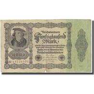 Billet, Allemagne, 50,000 Mark, 1922, 1922-11-19, KM:79, TTB - [ 3] 1918-1933 : Repubblica  Di Weimar