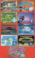 Kazakhstan . City Karaganda. Lot Of 9 Monthly Tickets. Plastic. - Season Ticket