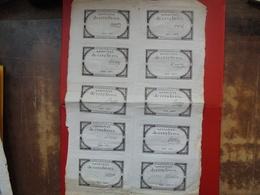 FRANCE PLANCHE N°12815-10 ASSIGNATS De 5 LIVRES-10 SIGNATURES DIFFERENTES - Assignats & Mandats Territoriaux