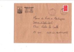 LETTRE DE MAIRIE DE MADIC CANTAL - Marcophilie (Lettres)