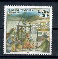 ANDORRA FRANCESE 2001 -  CUCINA STORICA DEL CONSIGLIO GENERALE  - MNH ** - Nuovi
