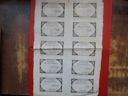 FRANCE PLANCHE N°21897-10 ASSIGNATS De 5 LIVRES-10 SIGNATURES DIFFERENTES - Assignats & Mandats Territoriaux