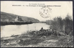 La Corrèze Illustrée   Beaulieu - 5 -L A Dordogne Et Ruines Du Château D'Estresse - Autres Communes