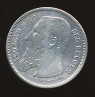 BELGIE LEOPOLD II  2 FRANCS  ( ZONDER PUNT TH VINCOTTE ) 1904   MOOIE STAAT 3 SCANS - 1865-1909: Leopold II