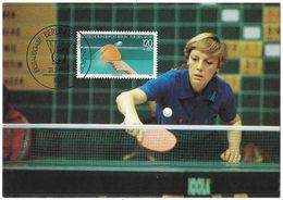AP64  Germany Berlin 1985 Table Tennis, Tennis De Table - Maxi Maximum Card - Tennis Tavolo