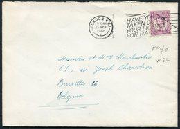 1966 GB London NW5 Perfin WSL 6d Rate Cover - Bruxelles Belgium. Radio TV License Slogan - 1952-.... (Elizabeth II)