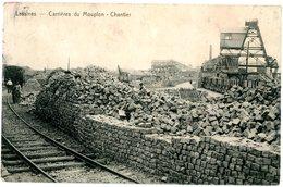 Lessines. Carrières Du Mouplon - Chantier. Locomotive. Circulé En 1928. Lessen. Steengroeve Mouplon - Werf. Locomotief. - Lessines