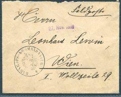 1916 Bahnhofs Komm. Feldpost Cover France - Wien. Eisenbahn Railway Train - Covers & Documents