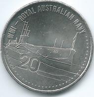 Australia - Elizabeth II - 20 Cents - 2015 - Royal Australian Navy - Decimal Coinage (1966-...)