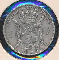 BELGIE LEOPOLD II   1 F 1881  PRACHTIGE STAAT 4 SCANS - 07. 1 Franc