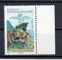ANDORRA FRANCESE 2014 - SANTUARIO SANTA MARIA DE CANOLICH - MNH ** - French Andorra