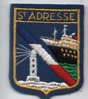 Ecusson Tissu Ancien/Brodé/SAINT ADRESSE/ Seine Maritime  / Vers 1960-1980    ET272 - Ecussons Tissu