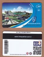 AC - MULTIPLE RIDE METRO, SUBWAY & BUS PLASTIC CARD ANKARA  #3, TURKEY PUBLIC TRANSPORTATION - Transportation Tickets