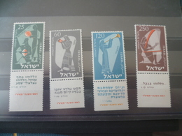 TIMBRE ISRAEL N° 92 / 95   NEUF **  MNH   MUSIQUE  MUSICIEN - Israel