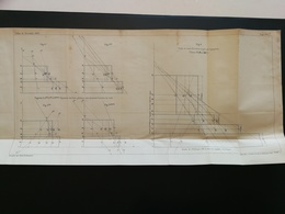 ANNALES DES PONTS Et CHAUSSEES  Plan D'un Train Imp L.Courtier 1889 (CLA91) - Máquinas