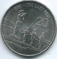 Australia - Elizabeth II - 20 Cents - 2015 - The Last Post - Decimal Coinage (1966-...)