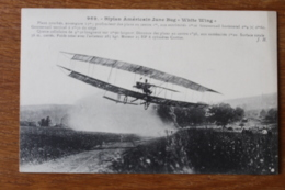 Cpa  Biplan Américain June Bug White Wing - ....-1914: Précurseurs