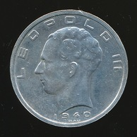 BELGIE LEOPOLD III   50 F   VL/FR  1940   POS B   PRACHTIGE STAAT 4 SCANS - 1934-1945: Leopold III