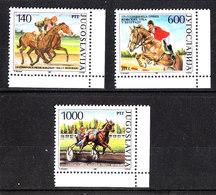 Jugoslavia   -  1988.  Corse Ippiche. Horse Racing. Complete MNH Series - Ippica