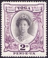 TONGA 1942 2d Black & Purple SG76 MH - Tonga (...-1970)