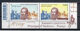 ANDORRA FRANCESE 2012 - ENRICO IV IN COPPA CON FRANCIA - EMISSIONE CONGIUNTA  - MNH ** - Andorra Francese