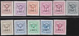 Belgie  .    OBP   .   V 758/768      .     *      .    Ongebruikt     .  / .   Neuf Avec Charniere - Typo Precancels 1951-80 (Figure On Lion)