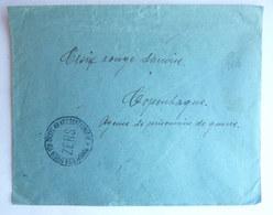 LETTRE DE PRISONNIER DE GUERRE Croix Rouge Danoise CACHET DE CENSURE ZENS Et MARQUE DE CONTROLE AU DOS - WW1