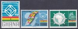 Ghana 1966 Geschichte History Charta Ketten Chains Diamanten Diamonds Steuerrad Kakao Flaggen Flags, Mi. 266-8 ** - Ghana (1957-...)
