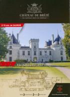 Dépliant Touristique : Château De Brézé (49, Maine-et-Loire) 4 Volets, Recto-Verso (15 Cm Sur 21 Cm) - Dépliants Touristiques