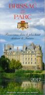 Dépliant Touristique : Château De Brissac Et Son Parc (49, Maine-et-Loire) 4 Volets, Recto-Verso (10 Cm Sur 21 Cm) - Dépliants Touristiques