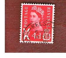 GRAN BRETAGNA (UNITED KINGDOM) - SG S10 REGIONAL ISSUES - 1969 SCOTLAND: QUEEN ELIZABETH 4 RED  - USED° - Regionali