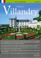 Dépliant Touristique : Château De Villandry, Jardins (37, Indre-et-Loire) 4 Volets, Recto-Verso (15 Cm Sur 21 Cm) - Dépliants Touristiques