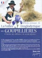Dépliant Touristique : Les Goupillières, Vallée Troglodytique, Azay-le-Rideau (Indre-et-Loire) 3 Volets, Recto-Verso - Dépliants Touristiques