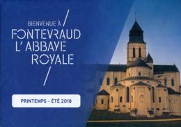 Dépliant Touristique : Abbaye Royale De Fontevraud (49, Maine-et-Loire) 4 Volets, Recto-Verso (15 Cm Sur 21 Cm) - Dépliants Touristiques