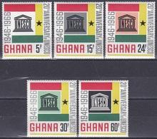 Ghana 1966 Organisationen UNO ONU UNESCO Kultur Culture Wissenschaft Science Bildung Education, Mi. 274-8 ** - Ghana (1957-...)