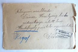 LETTRE DE PRISONNIER DE GUERRE CACHET DE CENSURE ZENSURIERT Et MARQUE DE CONTROLE AU DOS - Guerre Mondiale (Première)