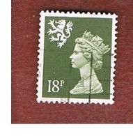 GRAN BRETAGNA (UNITED KINGDOM) - SG S59 REGIONAL ISSUES - 1987 SCOTLAND: QUEEN ELIZABETH 18 GREY - USED° - Regionali