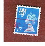 GRAN BRETAGNA (UNITED KINGDOM) - SG S56 REGIONAL ISSUES - 1989 SCOTLAND: QUEEN ELIZABETH 15 - USED° - Regionali